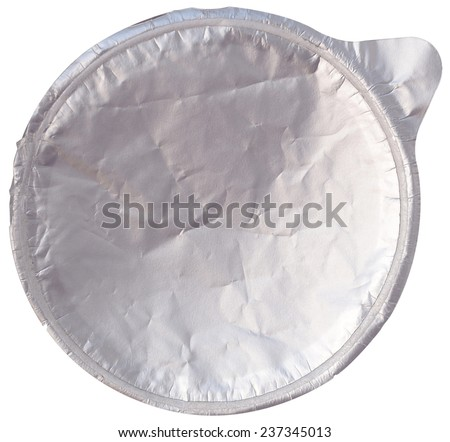 foil cover isolated on white - stock photo