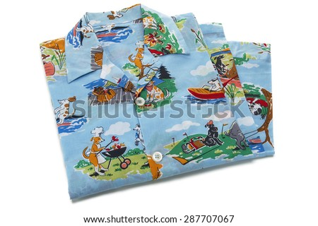 Folded Dog Pajamas - stock photo
