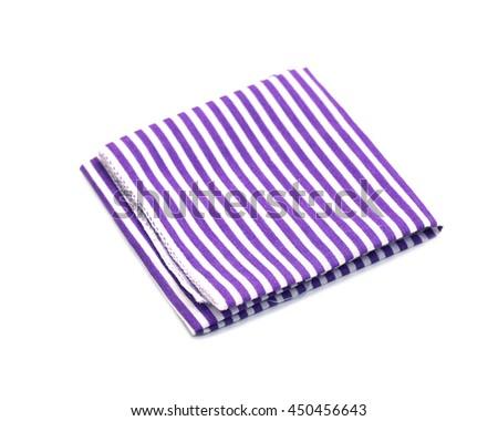 folded napkin isolated on a white background. - stock photo