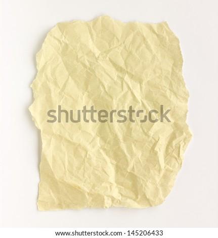 Folded paper on white background. - stock photo