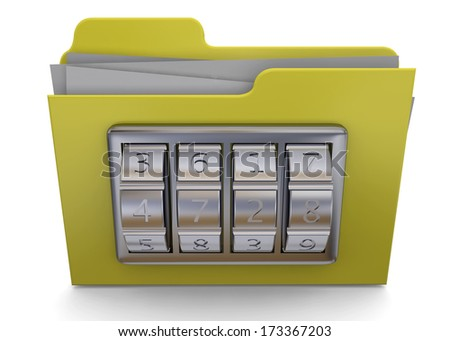 Folder And Code - 3D - stock photo