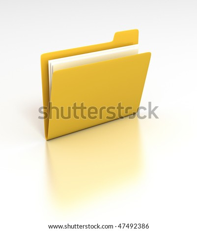 Folder - 3D rendered desktop icon - stock photo