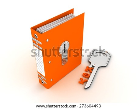 folder for papers and lock - stock photo