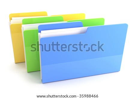 Folder icon ( 3d render) More Variations In My Portfolio - stock photo