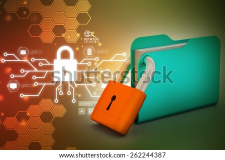Folder locked - stock photo