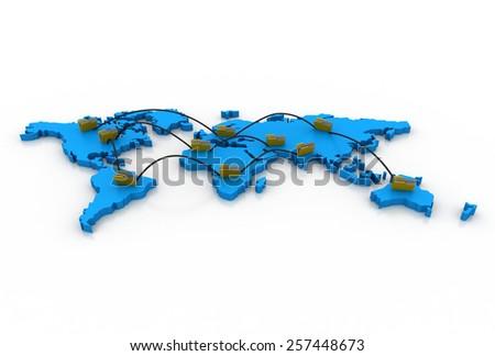 folder network - stock photo