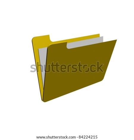 Folder on white Background - stock photo