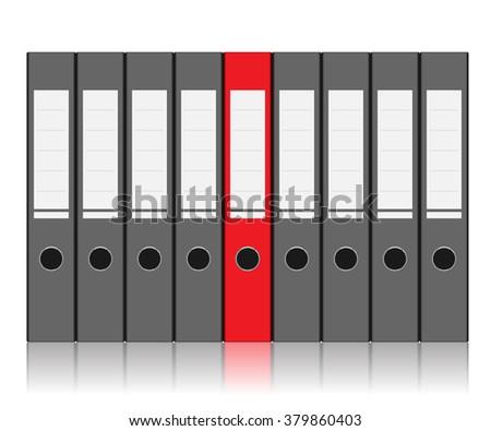 Folder to Store Files isolated on white background. illustration. - stock photo
