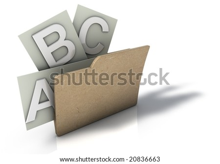 Folder with ABC Options - stock photo