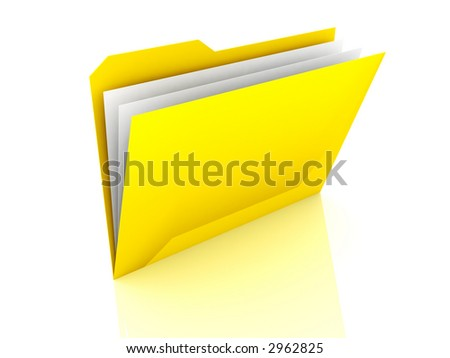 Folder with files - stock photo
