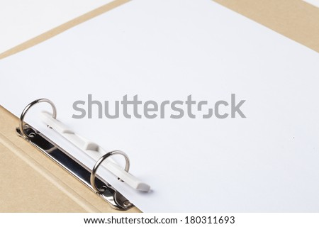 Folders and empty files - stock photo