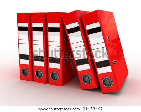 Folders for documents, 3D - stock photo