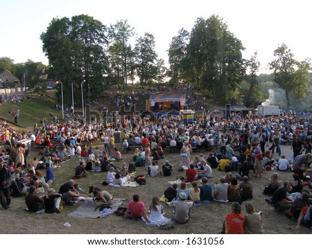 Folk event - stock photo