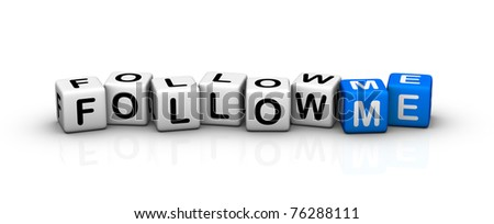 follow me! - stock photo