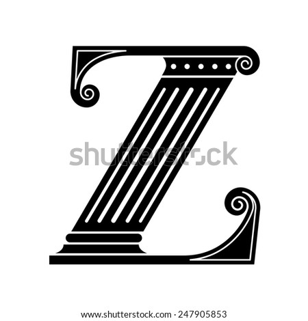 Font made in the classic old style. - stock photo