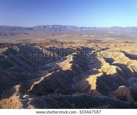 Font's Point, Anza Borrego Desert State Park, California - stock photo