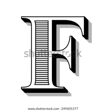 Font with lines. - stock photo