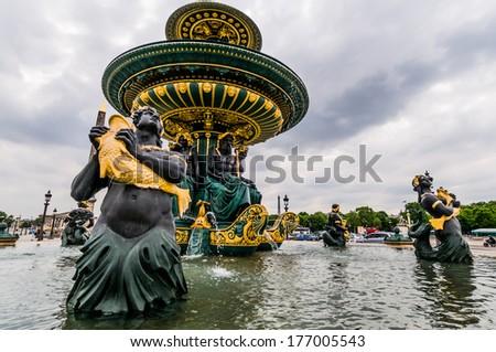 Fontaine des Mers, Paris, France - stock photo