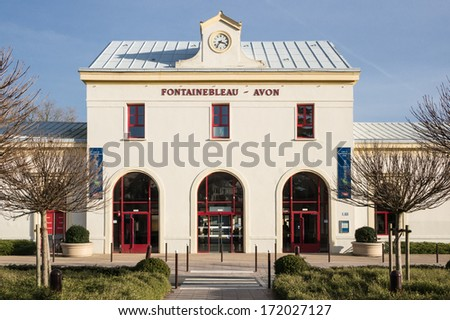 Fontainebleau Train Station, France - stock photo