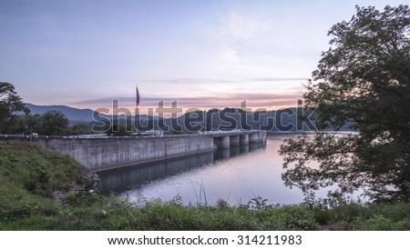 Fontana Dam, North Carolina - stock photo