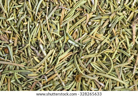 Food background: dried rosemary - stock photo