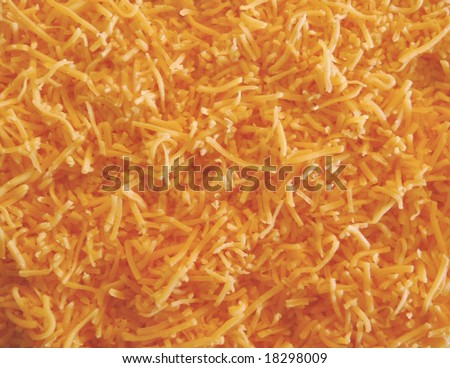 food background - shredded cheese - stock photo