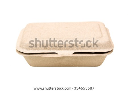 food box made of paper - stock photo