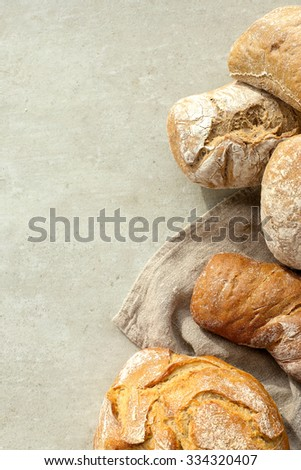 Food. Bread on the table - stock photo