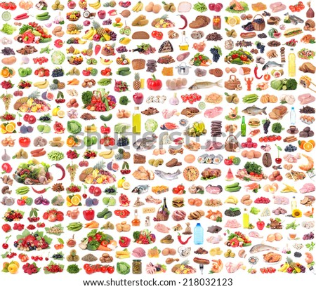 Food collection - stock photo