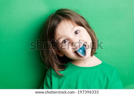 Food coloring in children's sweets - stock photo