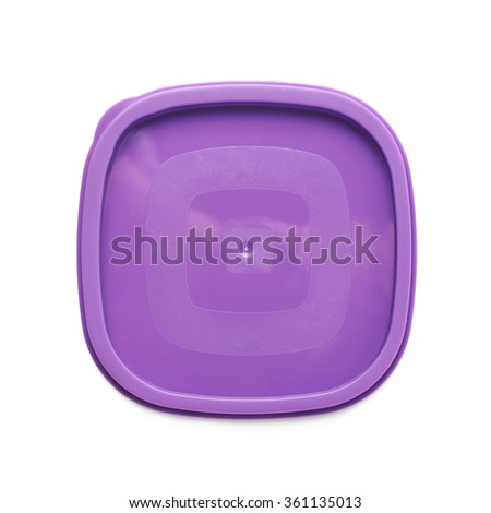 Food container's plastic cap isolated - stock photo