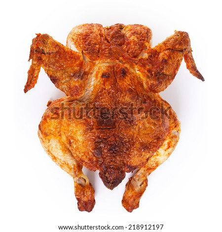 Food. Delicious, grilled chicken on the table - stock photo