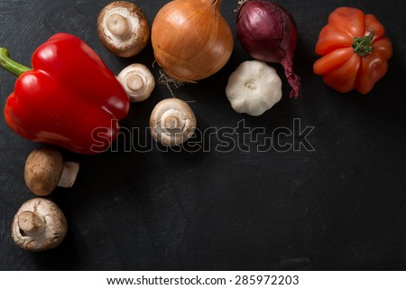 Food Ingredients Background - stock photo