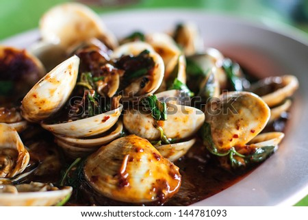 food of shell of thailand - stock photo