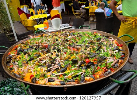 Food. Paella. Spanish food. Holiday. - stock photo
