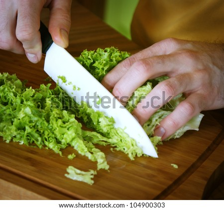 Food preparation in the kitchen - stock photo