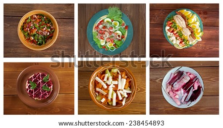 Food set  Healthy  Salad.close up - stock photo