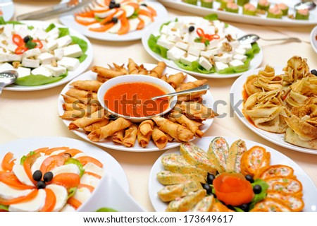 Food table - stock photo