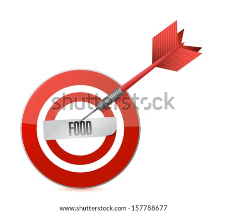 food target and dart illustration design over a white background - stock photo