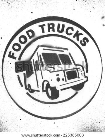 Food Truck Stencil - stock photo