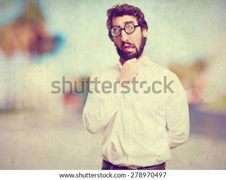 fool man thinking - stock photo