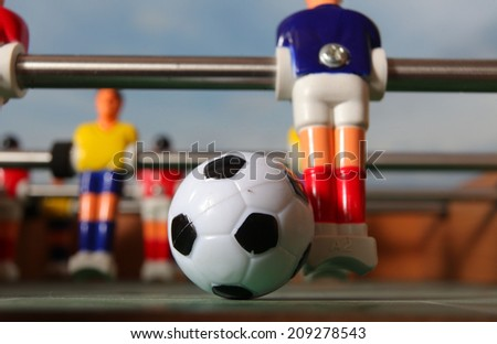 foosball.football table - stock photo