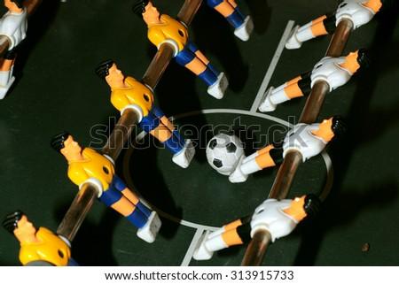 foosball macro - stock photo