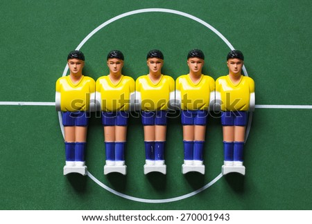 foosball miniature plastic - stock photo