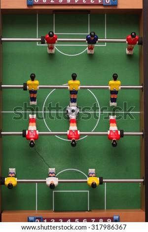 foosball. table football - stock photo