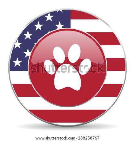 foot american icon original modern design for web and mobile app on white background  - stock photo