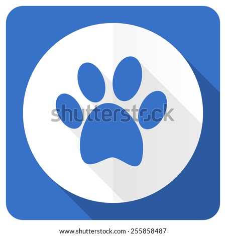 foot blue flat icon   - stock photo