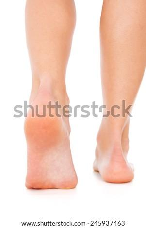 Foot care closeup - stock photo