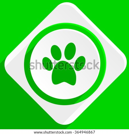 foot green flat icon - stock photo