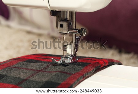 foot home sewing machine - stock photo